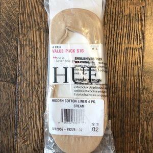 4-pack Hue hidden cotton sock liners